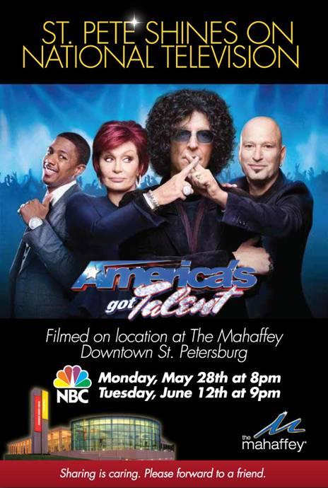 Celebrate St. Pete: Set the TV to 'America's Got Talent'!